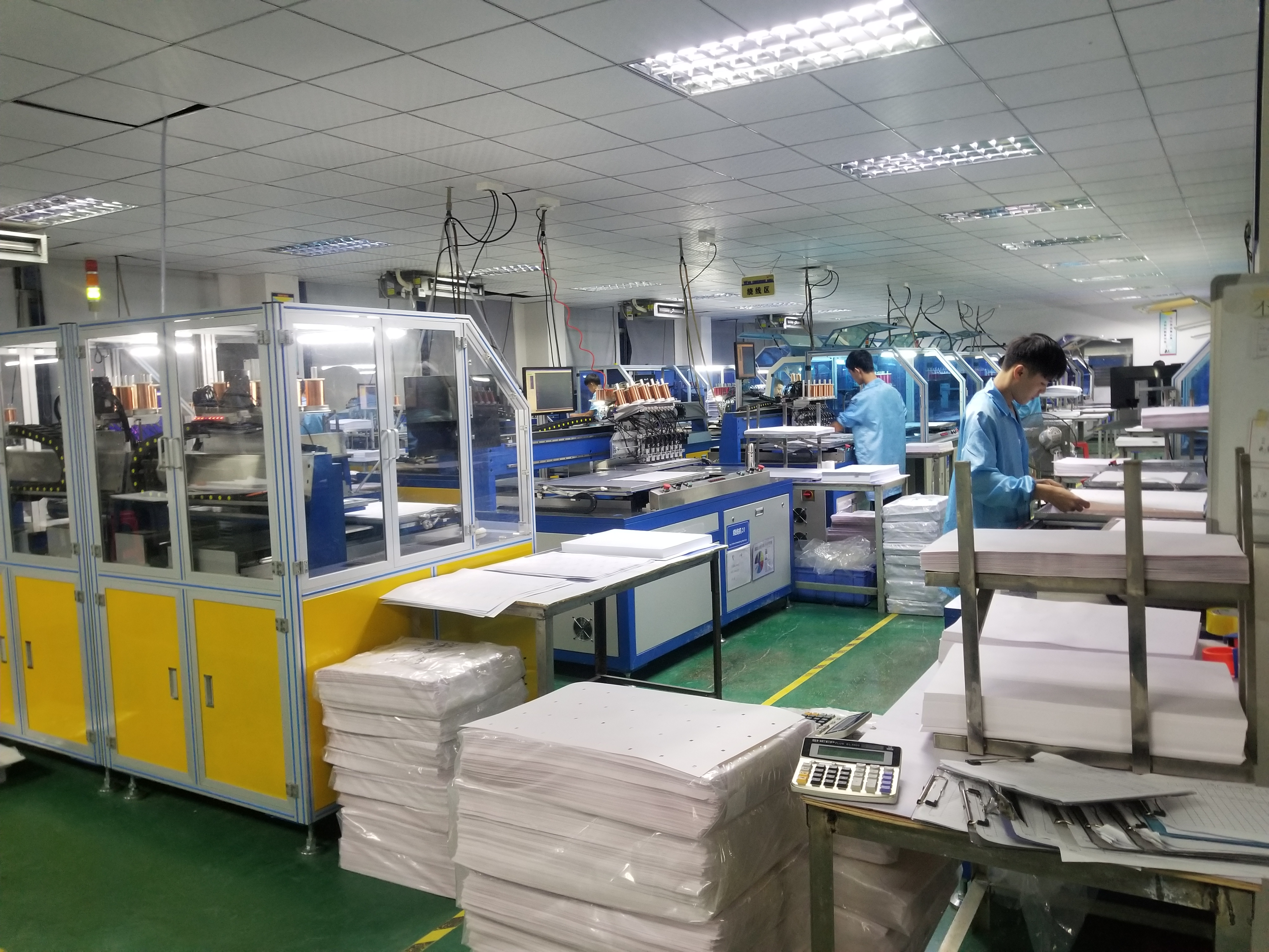 Photos of smart card inlay sheet Production line